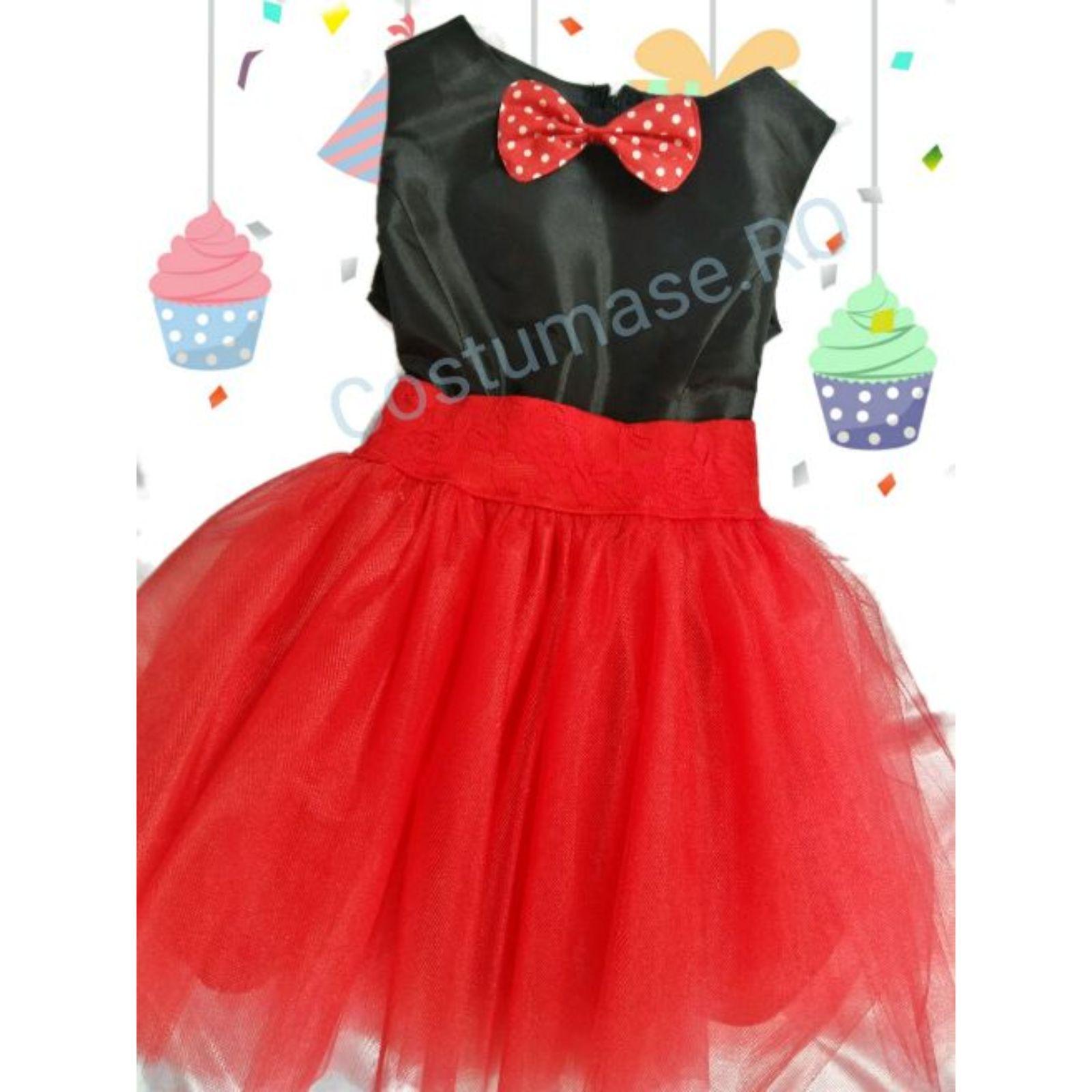 Costumas fete cu papion Minnie 1
