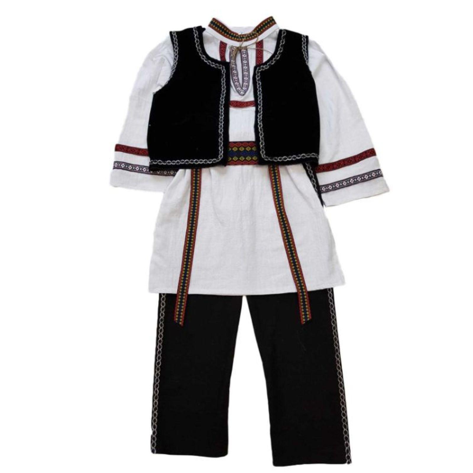 Costum Popular cu tunica -baieti