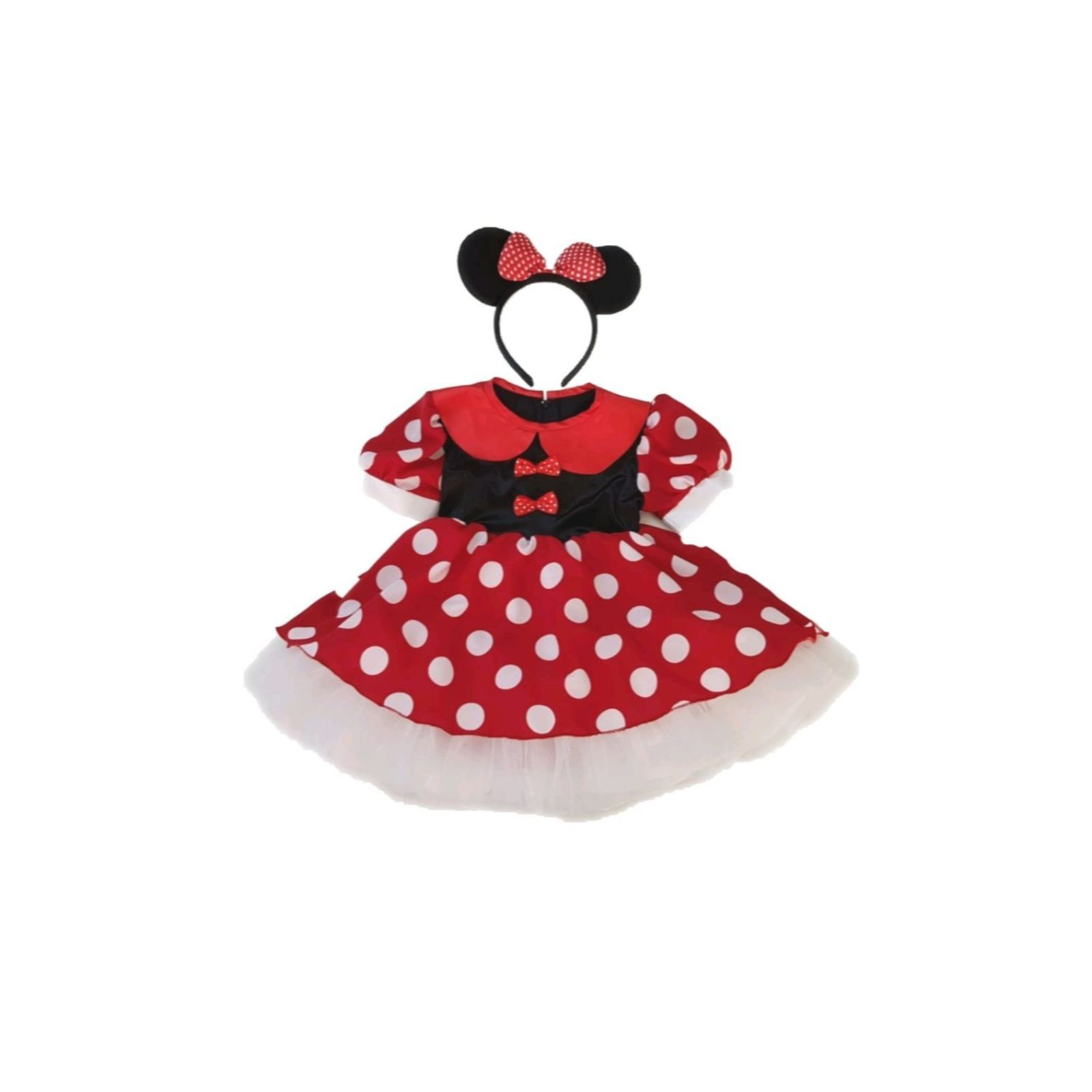 Rochița Minnie Mouse cu fundițe