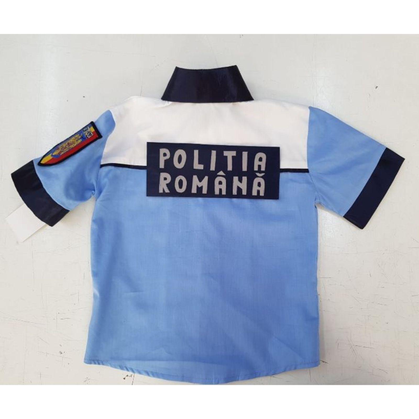 Costum politist copii- sapca bicolora și scris reflectorizant 3