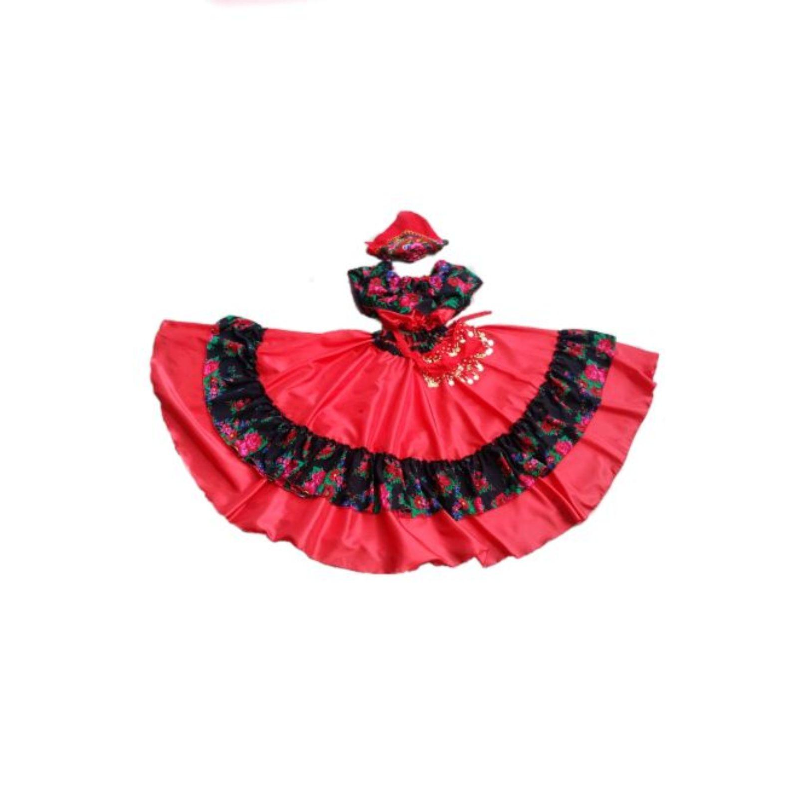 Costum Țigancusă roșu cu negru
