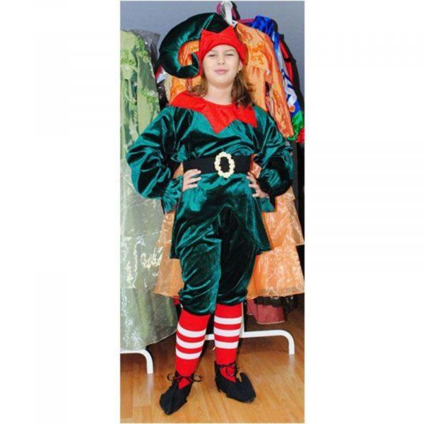 Costum Spiridus / Elf catifea