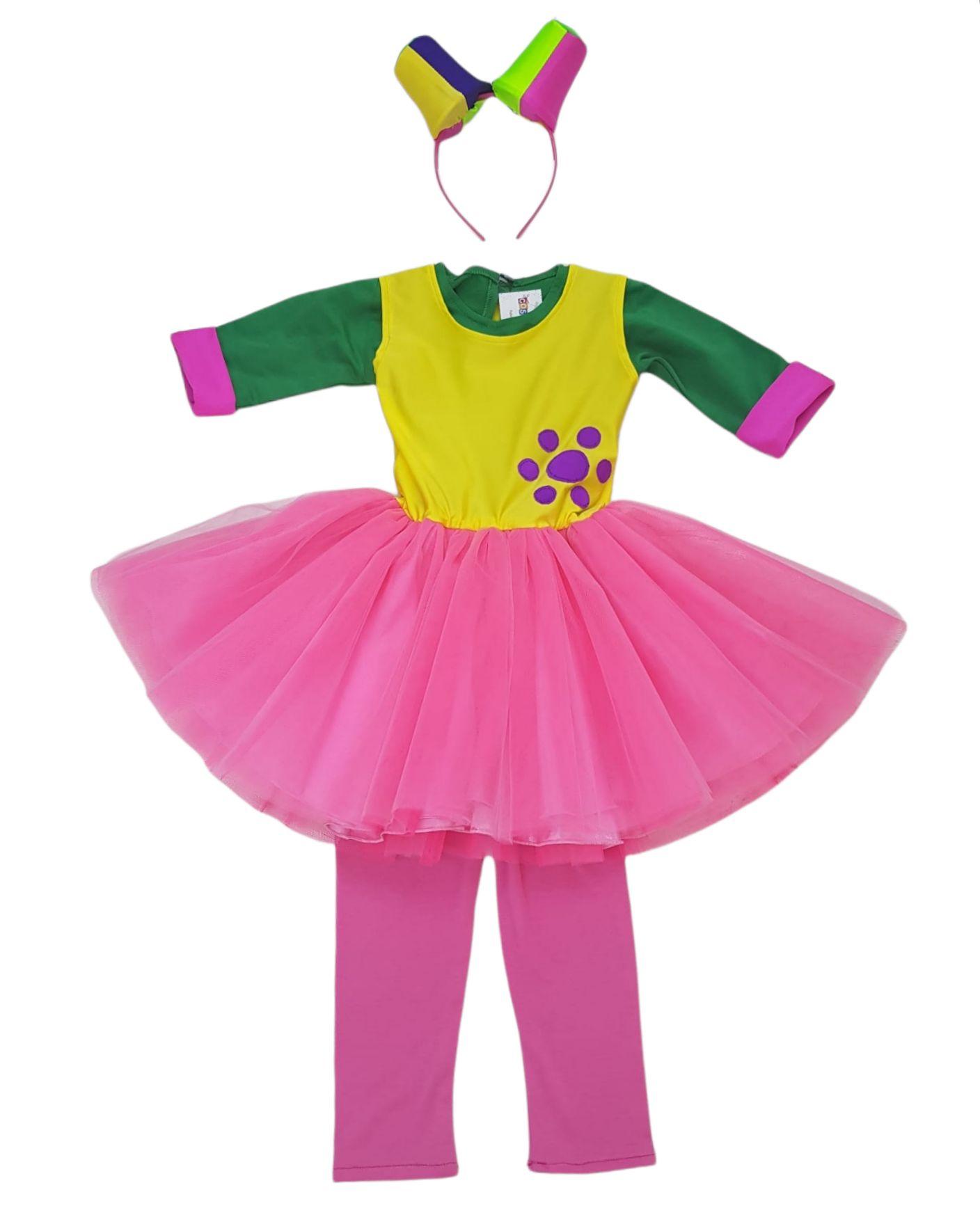 costum fetița multicolor