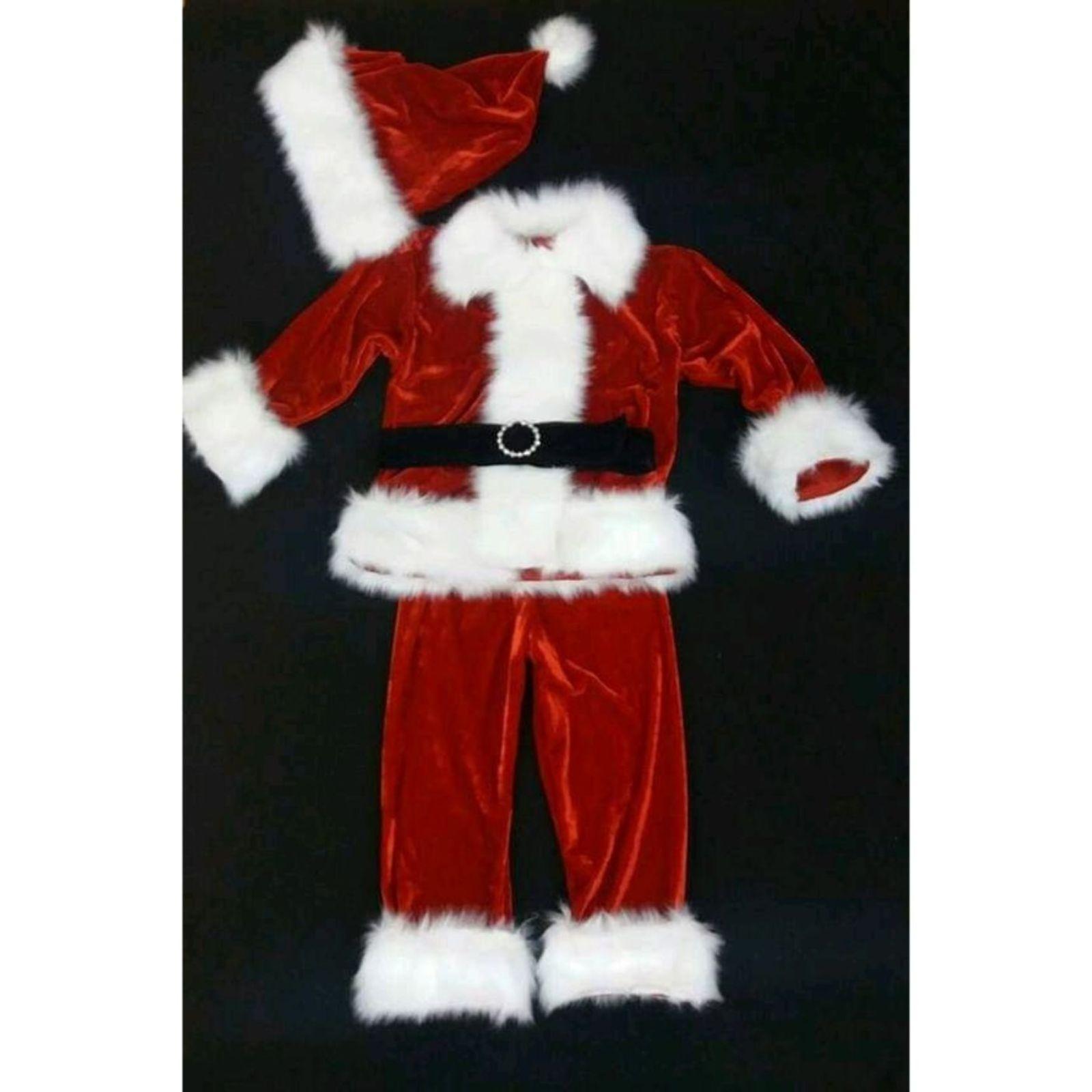 Mos Crăciun accesorizat cu barbă, burtică și sac
