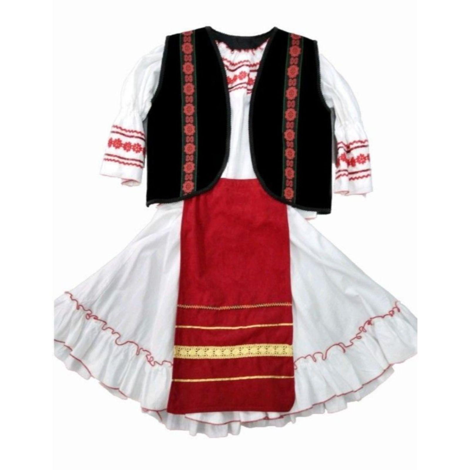 Costum popular fete catifea