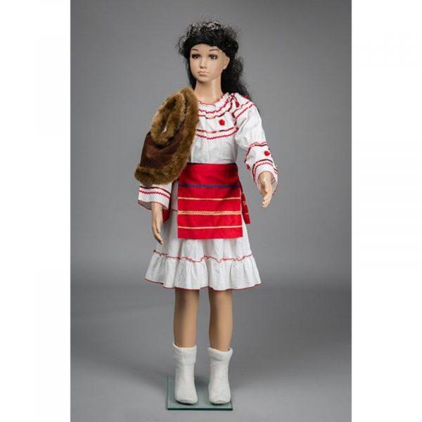 Costum popular fete cu bundita