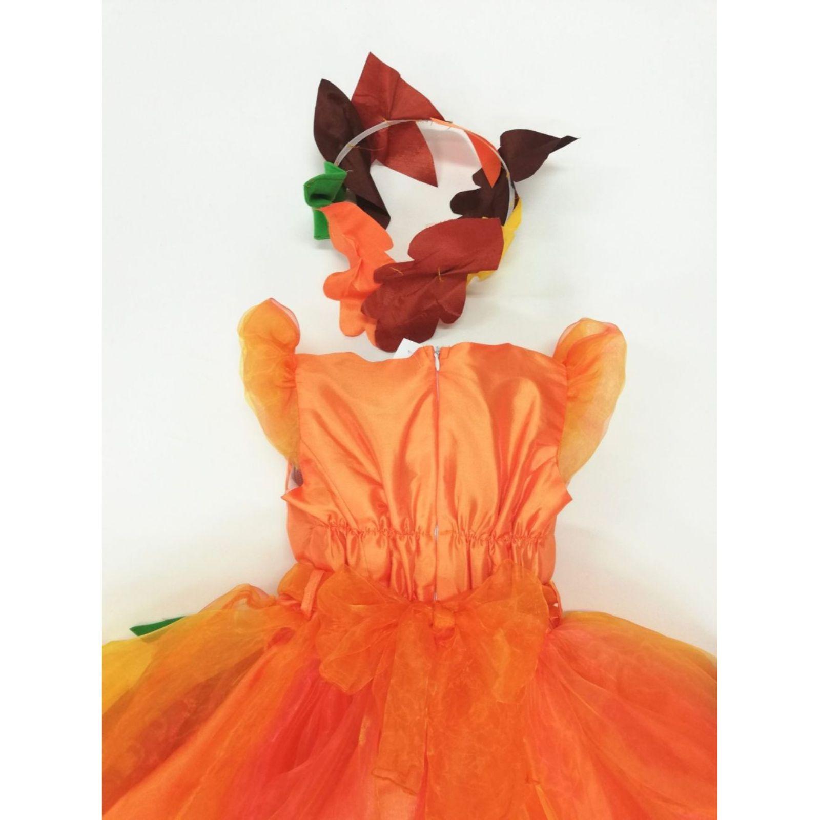 Rochița Zâna Toamnă portocaliu 4