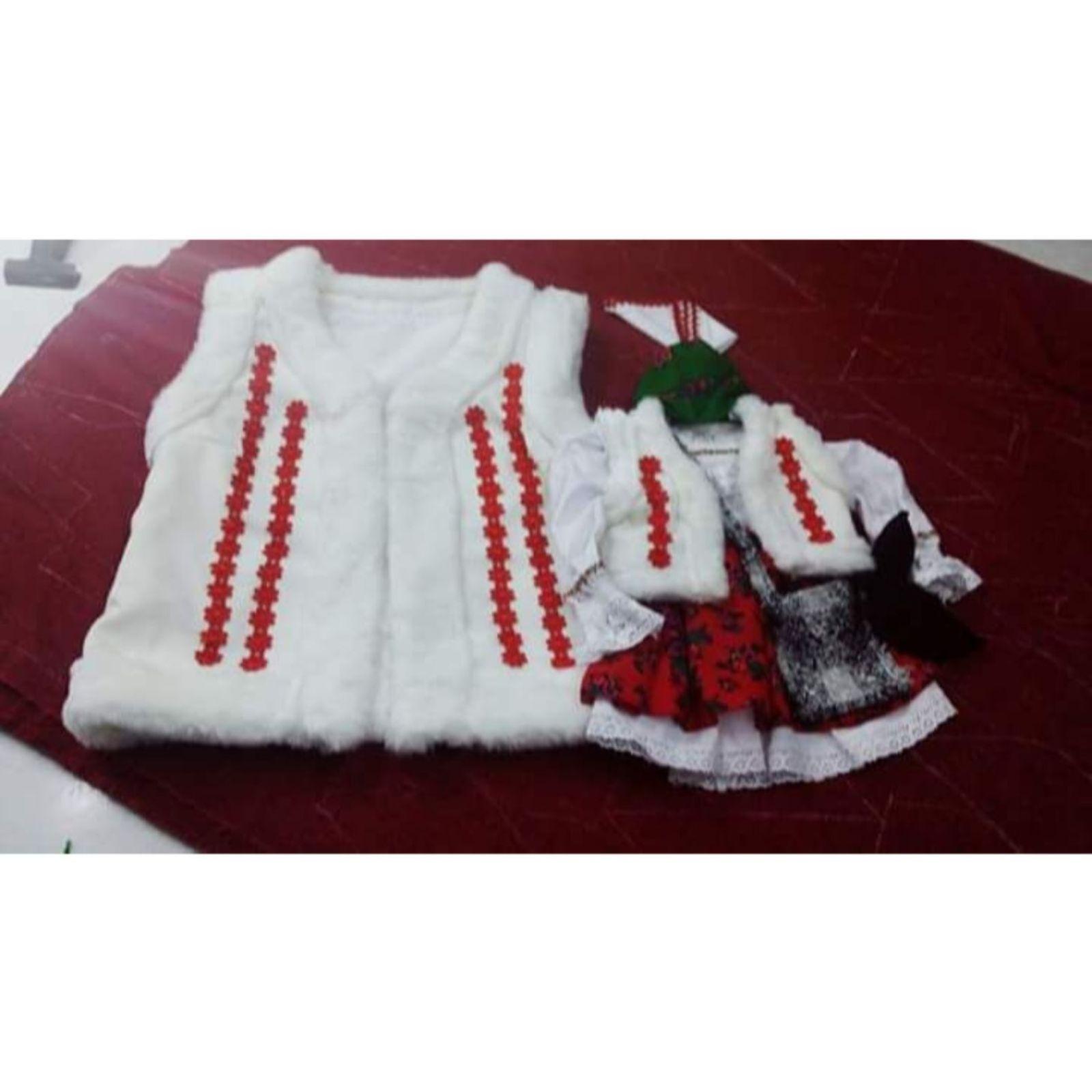 Costum Popular Maramuresean pentru botez (ilic alb)