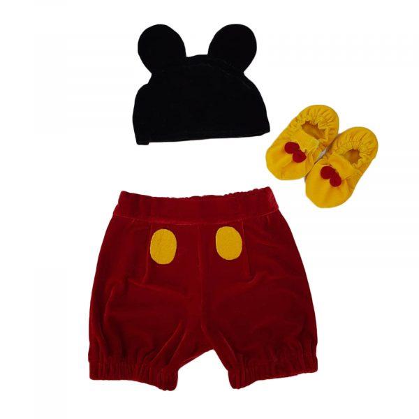 Costum botez Mickey Mouse 0-12 luni