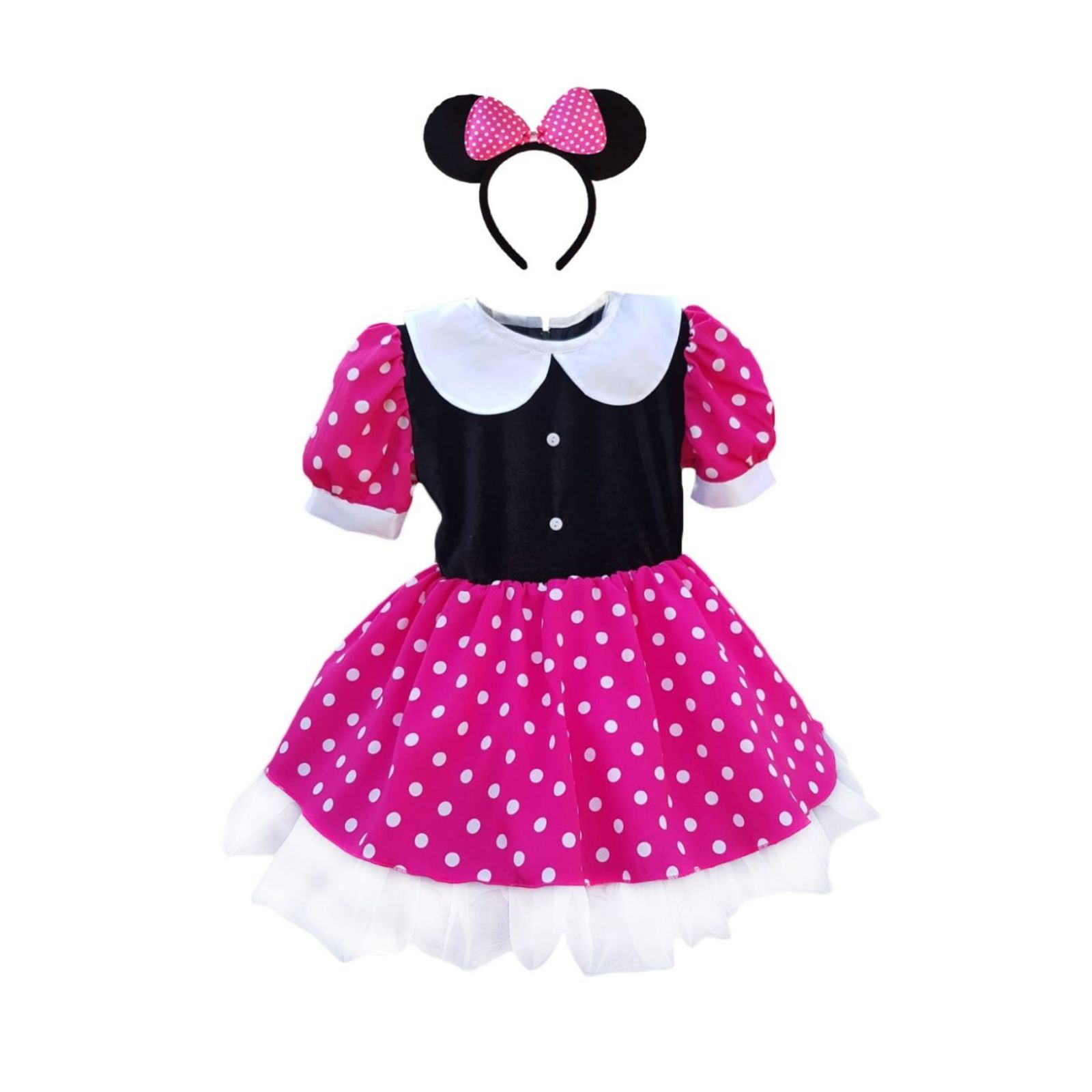 Rochita Minnie Mouse roz 1