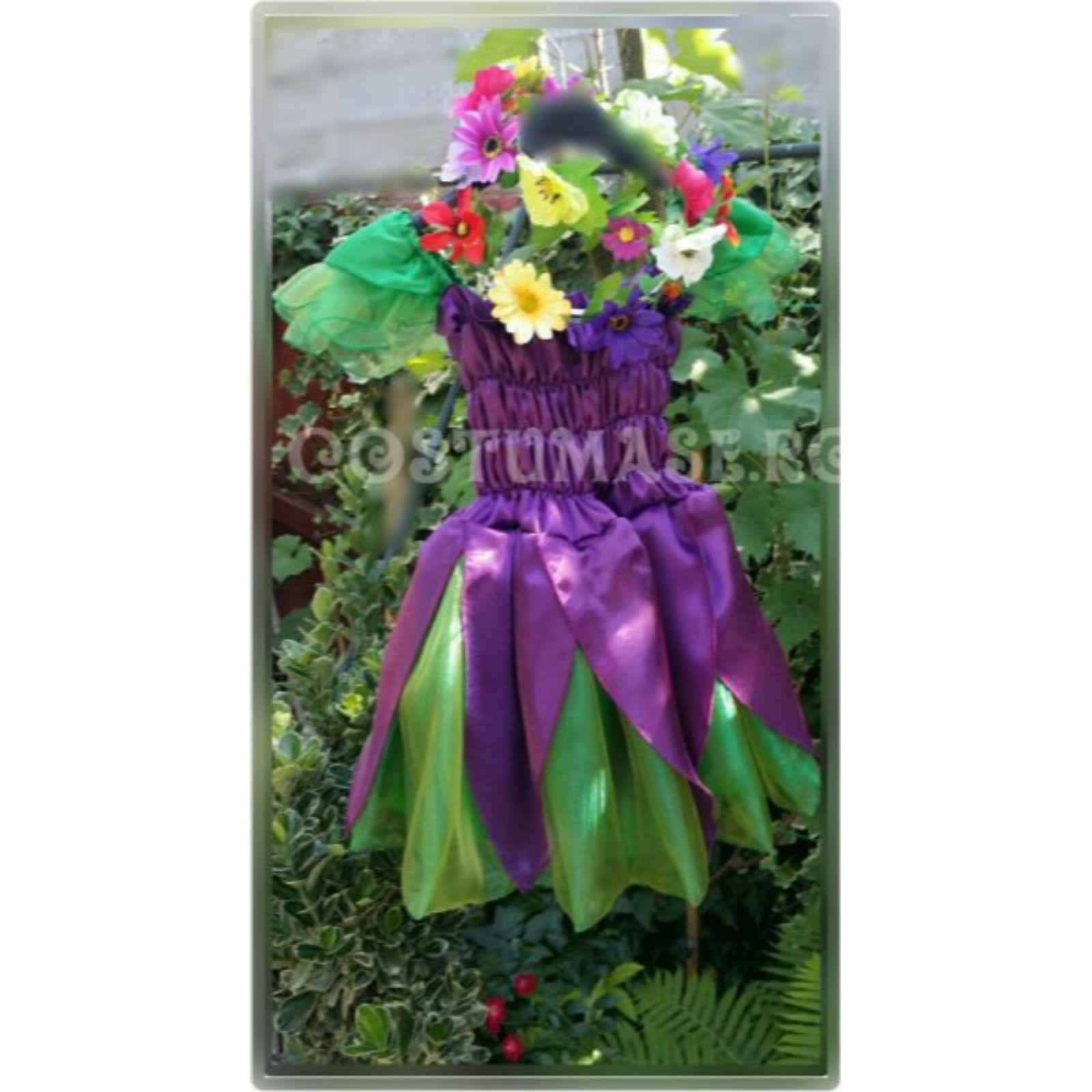 Rochita Violeta si coronita cu flori