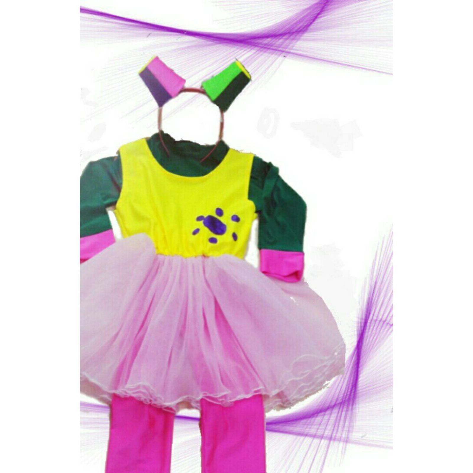 Costum Fetita multicolor 2