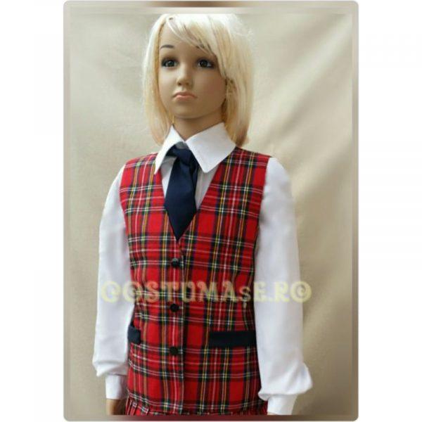 Vesta uniforma carouri fete