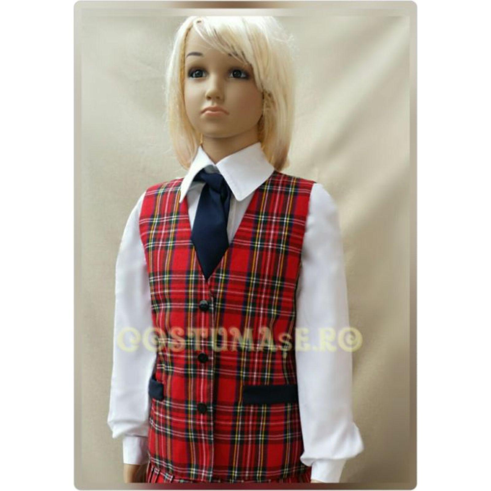 Vesta uniforma carouri fete 2