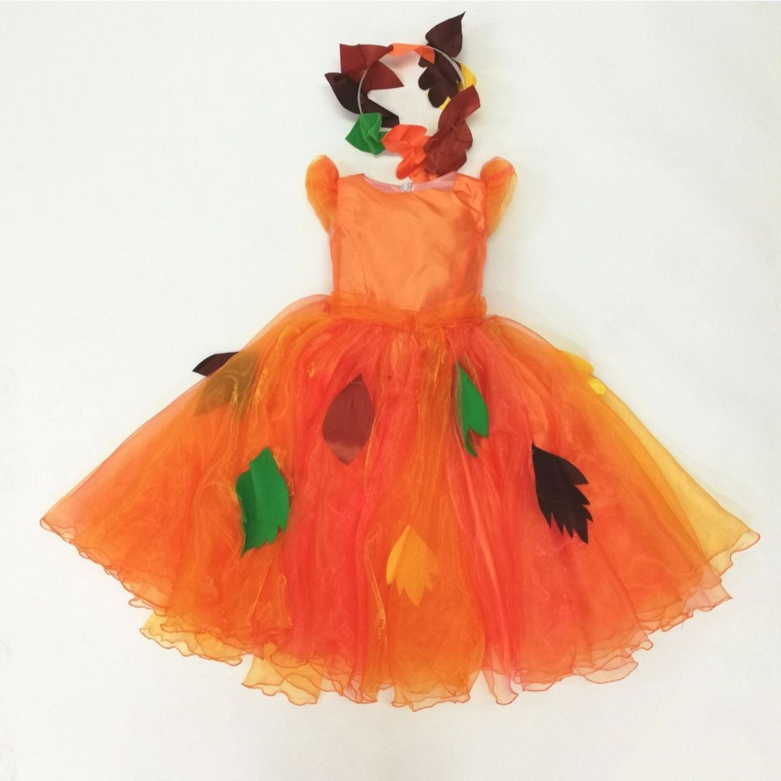 Rochița Zâna Toamnă portocaliu 1