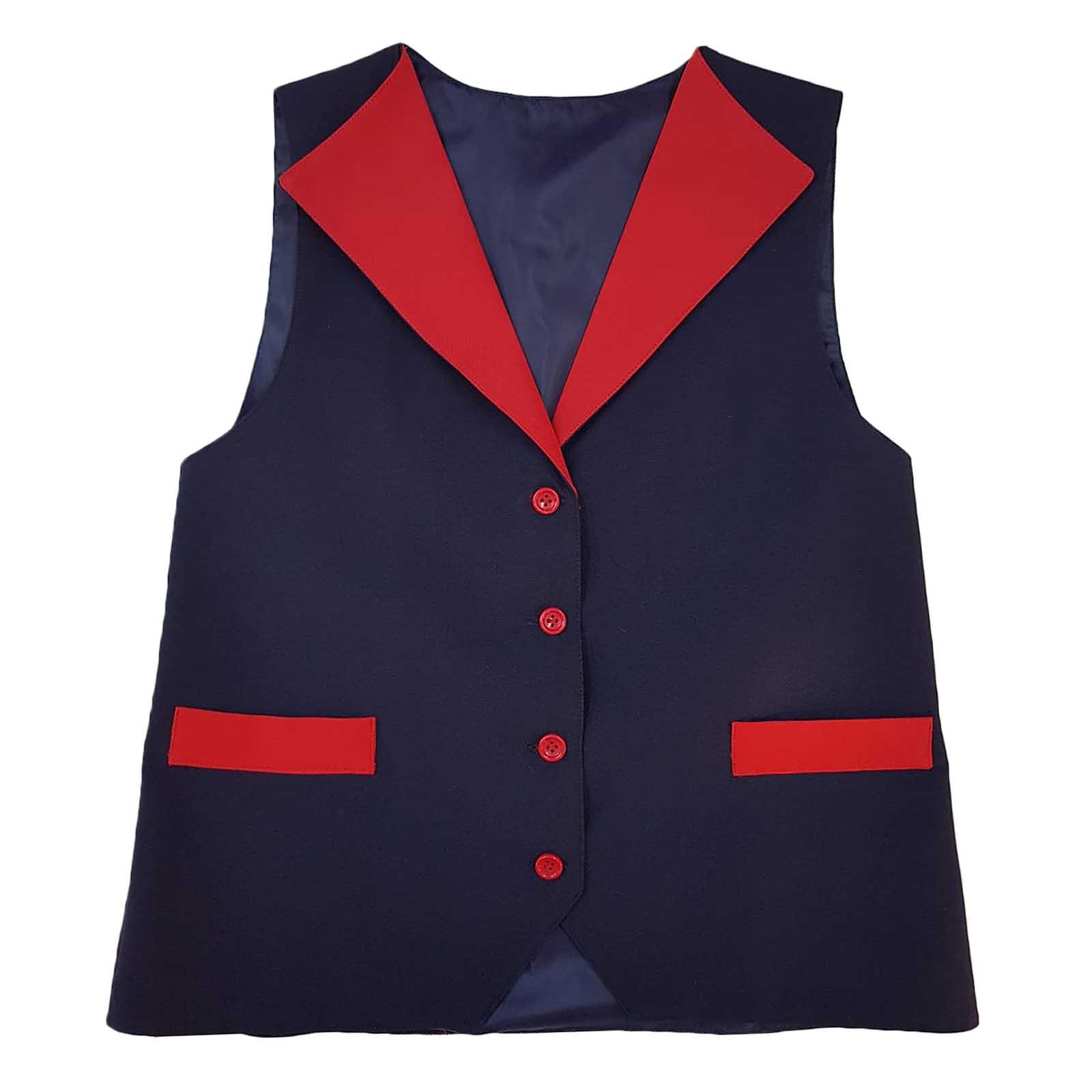Vesta uniforma cu guler