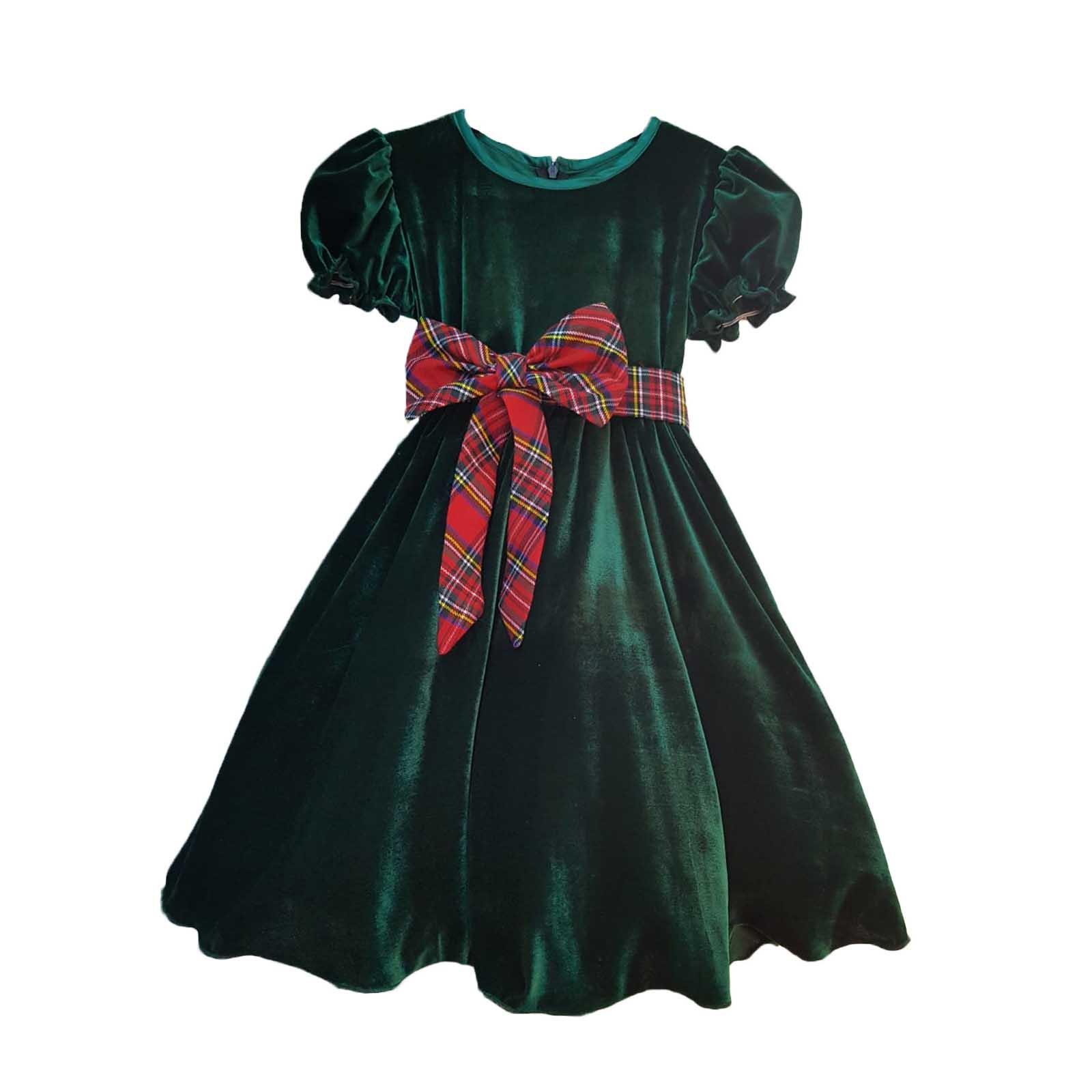 rochita catifea verde 2